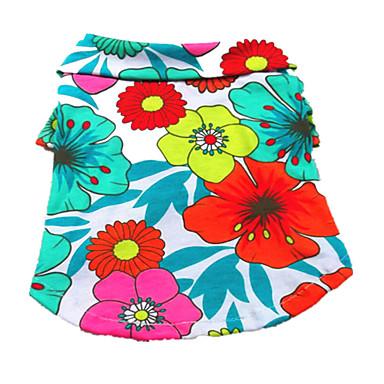Hond T-shirt Hondenkleding Ademend Vakantie Flora / Botanisch Regenboog Kostuum Voor huisdieren