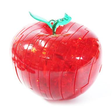 Építőkockák 3D építőjátékok Fejtörő Kristály építőjátékok Apple 3D DIY Kristály ABS Karácsony