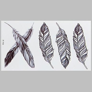 패션 문신 깃털 방수 문신 스티커