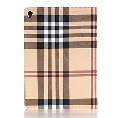 애플 iPad 프로 12.9 인치 태블릿 아이 패드 에어 2 스마트 커버 본부 얇은 고급 그리드 가죽 케이스
