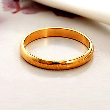 Kadın's Çift Yüzükleri / Band Yüzük / Bildiri Yüzüğü - Altın Kaplama Moda 6 / 7 / 8 Siyah / Gümüş / Altın Uyumluluk Düğün / Parti / Günlük
