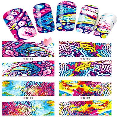 8 Nail Art matrica Víz Transfer matrica Rajzfilmfigura Szeretetreméltő smink Kozmetika Nail Art Design