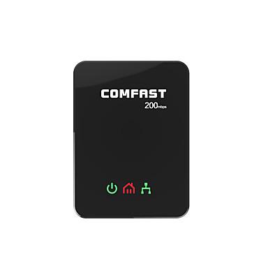 comfast WiFi tartományban extender hálózatban működő adapterek 200Mbps RJ45 eu plug CF-wp200m -Fekete (2 db)