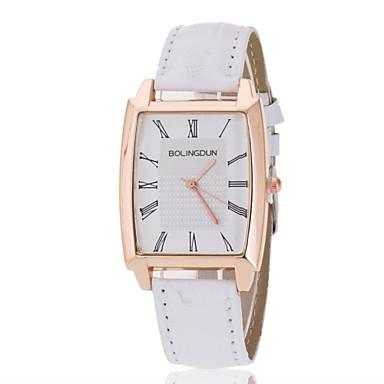 아가씨들 패션 시계 모조 다이아몬드 시계 모조 다이아몬드 석영 PU 밴드 블랙 화이트 브라운