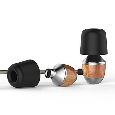 vjjb 프리미엄 정품 나무 유선 인 이어 이어폰을 마이크와 스마트 폰에 대한 취소 무거운 저음 소음을 k4s