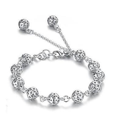 Pentru femei Brățări cu Lanț & Legături Inimă Iubire Design Unic Modă Aliaj Bijuterii brățară Argintiu Pentru Cadouri de Crăciun Casual