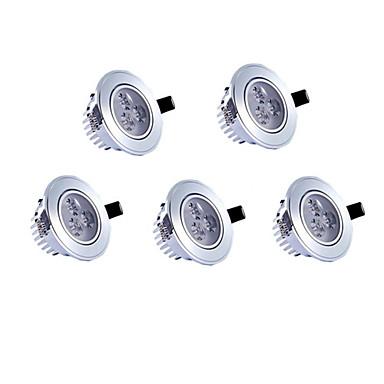 5pcs led recessed lights recessed retrofit 3 de alta potência led 350lm branco quente branco frio ac85-265v