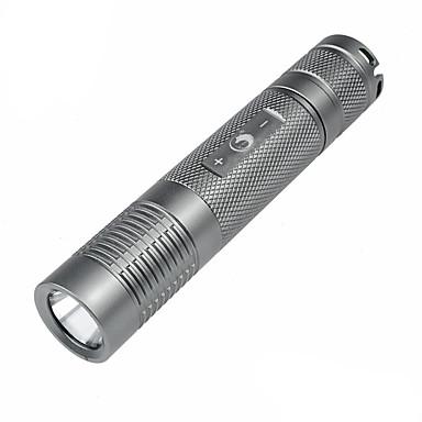 U'King ZQ-X914 LED손전등 LED 1200lm lm 5 모드 크리어 XM-L2 조절가능한 초점 슬립 방지 그립 줌이 가능한 캠핑/등산/동굴탐험 일상용 경찰/군인 사이클링 사냥 일 멀티기능 등산 여행 드라이빙 실버