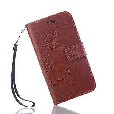 Mert Samsung Galaxy tok Kártyatartó / Pénztárca / Állvánnyal / Flip / Dombornyomott Case Teljes védelem Case Pillangó Műbőr SamsungS7 /