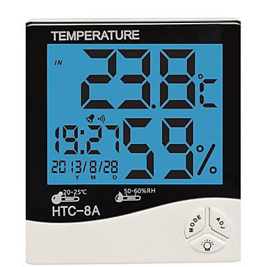 습도 벼의 LCD 디지털 HTC-8 온도 계측기 온도계, 습도계 온도 습도 미터 시계