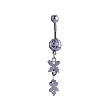 Női Testékszer Navel & Bell Button Rings Ezüst utánzat Diamond Egyedi Divat Ékszerek Ezüst Ékszerek Napi Hétköznapi 1db
