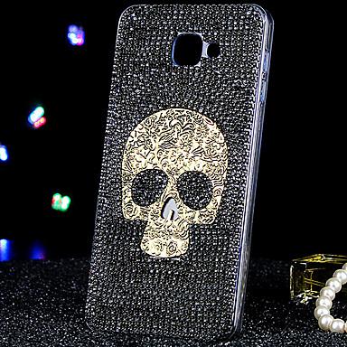 Kompatibilitás Samsung Galaxy tok tokok Strassz Hátlap Case Koponya Akril mert Samsung Galaxy A9