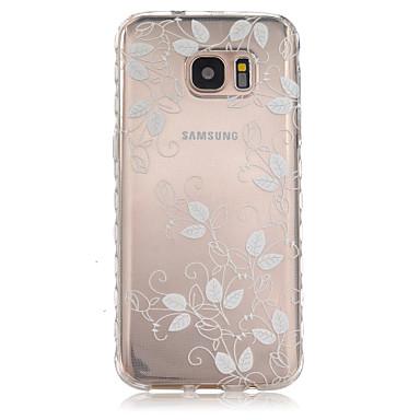 Mert Samsung Galaxy S7 Edge Átlátszó / Minta Case Hátlap Case Virág TPU Samsung S7 edge / S7