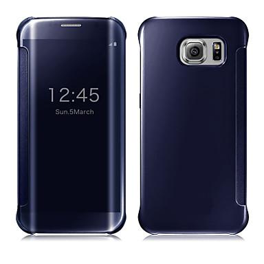 voordelige Galaxy S-serie hoesjes / covers-hoesje Voor Samsung Galaxy S9 / S9 Plus / S8 Plus Automatisch aan / uit / Beplating / Spiegel Volledig hoesje Effen PC / Transparant