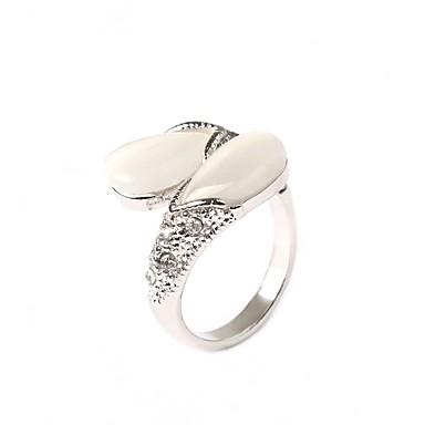 Dames Verzilverd Statement Ring - Modieus Voor Feest
