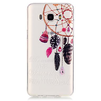 Kompatibilitás Samsung Galaxy tok tokok Átlátszó Hátlap Case Álomfogó Hőre lágyuló poliuretán mert Samsung Galaxy J5 (2016) J5