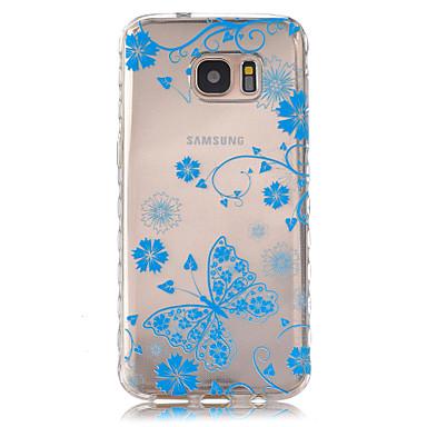 용 Samsung Galaxy S7 Edge 투명 / 패턴 케이스 뒷면 커버 케이스 버터플라이 TPU Samsung S7 edge / S7