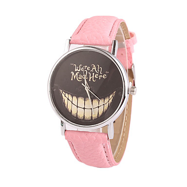 Women's Quartz Wrist Watch Casual Watch PU Band Charm Dress Watch Fashion Black White Blue Red Brown Pink Purple Rose