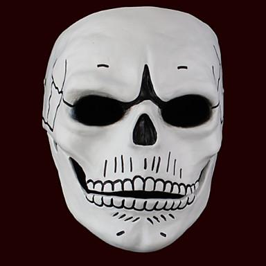 그외 유령 몬스터 마스크 남성용 남여 공용 할로윈 페스티발 / 홀리데이 할로윈 의상 블랙과 화이트 프린트
