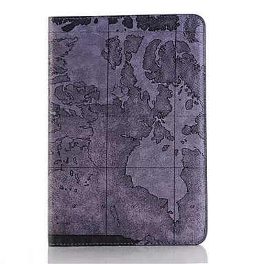 retro stílusú térkép nyomatok pu bőr felhajtható kemény fedél tablet tok iPad mini 3/2/1 intelligens készenléti védőtok