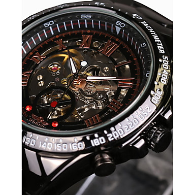 4a410807b27 WINNER Men s Skeleton Watch Wrist Watch Mechanical Watch Automatic  self-winding Stainless Steel Black 30