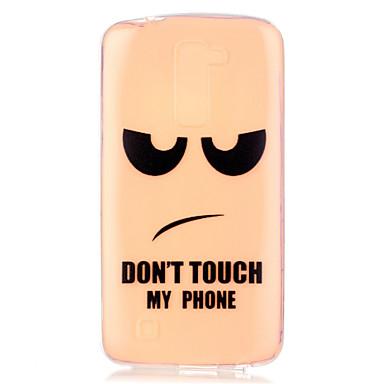 Kompatibilitás LG tok tokok Átlátszó Minta Hátlap Case Szó / bölcselet Puha Hőre lágyuló poliuretán mert LG LG K10 LG K7