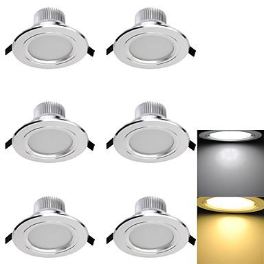 led süllyesztett lámpák 6 smd 5730 300lm meleg fehér hideg fehér 3000k / 6000k dekoratív ac 85-265 ac 220-240 ac 110-130v