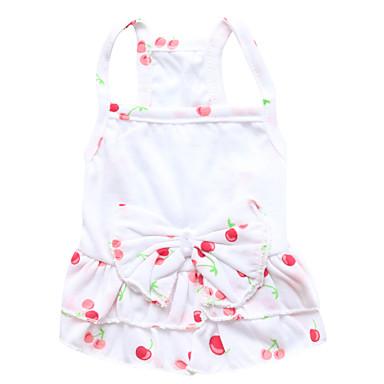 고양이 / 개 드레스 블루 / 핑크 강아지 의류 여름 / 모든계절/가을 꽃 / 식물 패션