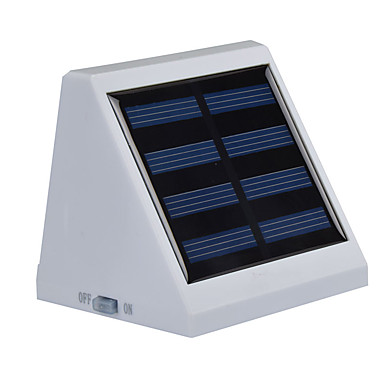 energia solar luz branca brilhante com sensor de movimento Lâmpada Jardim exterior com 4 levou para a escada