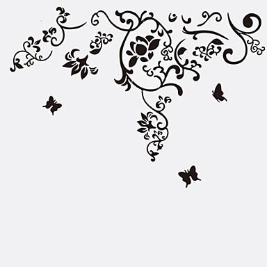 Állatok Csendélet Divat Virágok Régies (Vintage) Szabadidő Botanikus Falimatrica Repülőgép matricák Dekoratív falmatricák, Vinil