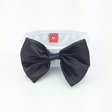 cheap Dog Clothing & Accessories-Dog Tie / Bow Tie Dog Clothes Black Costume For Spring &  Fall Men's Wedding