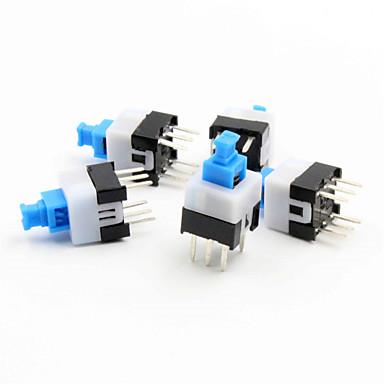 7 х 7 мм самоблокирующимся переключатель - синий + белый + черный (5 шт Pack)