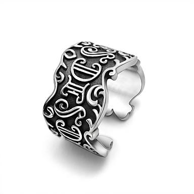 للرجال خاتم قابل للتعديل فتح الصلب التيتانيوم مجوهرات زفاف حزب الرياضة