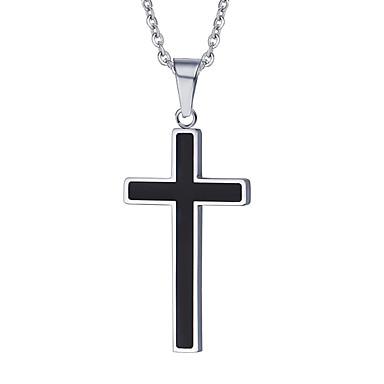 남성용 십자가 크로스 유럽의 팬던트 목걸이 펜던트 티타늄 스틸 팬던트 목걸이 펜던트 , 일상 캐쥬얼