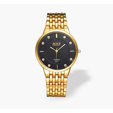 남성용 패션 시계 석영 태양 에너지 캐쥬얼 시계 합금 밴드 럭셔리 골드