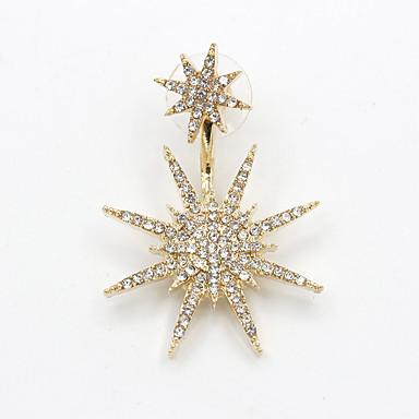 드랍 귀걸이 미니멀 스타일 고급 보석 패션 라인석 모조 다이아몬드 합금 Star Shape 골든 보석류 용 파티 일상 캐쥬얼 1PC