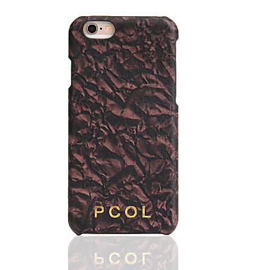 pcol® kézzel készített halott levelek minta marhabőr mobiltelefon védelmet shell iPhone 6 / 6s / 6 + / 6s plus