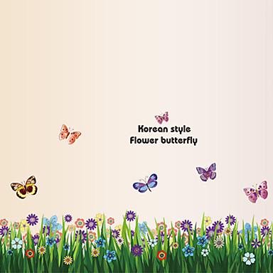 동물 정물 패션 꽃 보타니칼 Leisure 벽 스티커 플레인 월스티커 데코레이티브 월 스티커, PVC 홈 장식 벽 데칼 벽