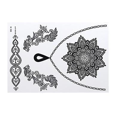 -Airbrush Tattoo Stencils--Papír--Női Felnőtt-Tetkó matricák