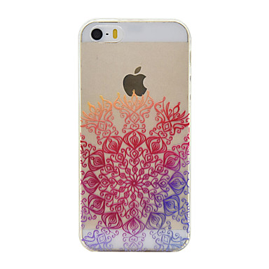 Mert iPhone 6 tok / iPhone 6 Plus tok Átlátszó Case Hátlap Case Mandala Puha TPU Apple iPhone 6s Plus/6 Plus / iPhone 6s/6