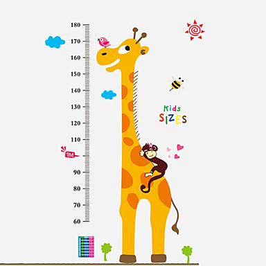 동물 정물 패션 만화 Words & Quotes Leisure 벽 스티커 플레인 월스티커 하이트 스티커, PVC 홈 장식 벽 데칼
