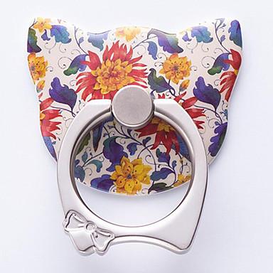 패션 창조적 인 만화 고양이 반지 브래킷 아이폰 8 7 삼성 갤럭시 s8 s7