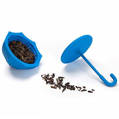 szilikon esernyő alakú tea infuser laza tealevél filter szűrő (véletlenszerű szín)