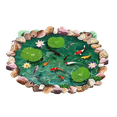 Állatok Csendélet Divat Virágok Botanikus Szabadidő 3D Falimatrica 3D-s falmatricák Dekoratív falmatricák, PVC lakberendezési fali matrica