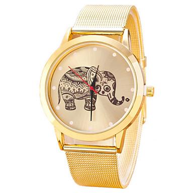여성용 패션 시계 석영 캐쥬얼 시계 스테인레스 스틸 밴드 골드