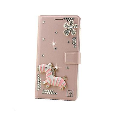 Case Kompatibilitás Samsung Galaxy tok Kártyatartó Strassz Flip Héjtok Csillogó Kemény Fém mert J7 (2016) J7 J5 (2016) J5 Grand Prime E7