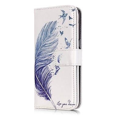 Недорогие Чехлы и кейсы для Galaxy S3-Кейс для Назначение SSamsung Galaxy S7 edge / S7 / S6 edge Кошелек / Бумажник для карт / со стендом Перья