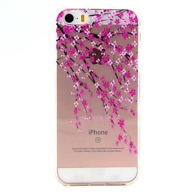 용 아이폰5케이스 울트라 씬 / 투명 / 패턴 케이스 뒷면 커버 케이스 꽃장식 소프트 TPU Apple iPhone SE/5s/5