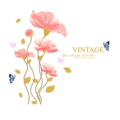 애니멀 / 보태니컬 / 로맨스 / 정물화 / 패션 / 플로럴 / 빈티지 / 레져 벽 스티커 플레인 월스티커,PVC 90*60*0.1