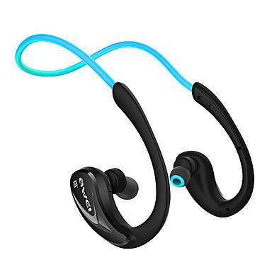 AWEI A880BL 무선 헤드폰 정전기 플라스틱 스포츠 및 피트니스 이어폰 볼륨 컨트롤 마이크 포함 소음 차단 헤드폰